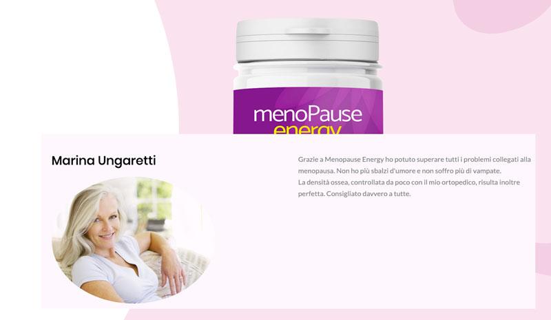 Opinioni dell integratore Menopause Energy