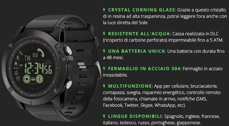 caratteristiche di Xtactical Watch