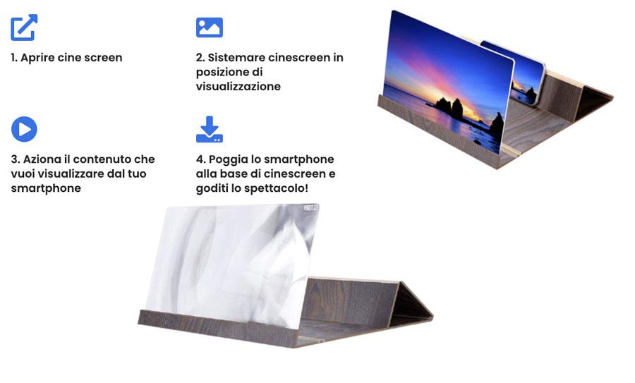 come funziona CineScreen