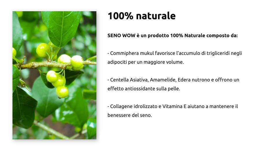 Ingredienti di Seno Wow