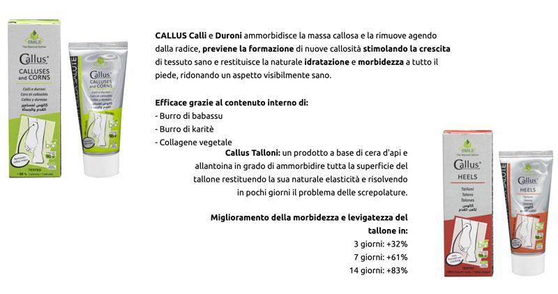 Ingredienti e come funziona la crema Callus