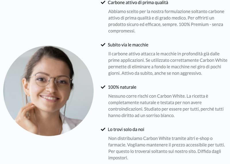 come funziona Carbon White